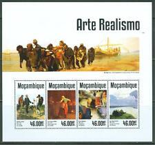 MOZAMBIQUE 2014  REALISM  COURBET MILLET ARKHIPOV LEVITAN  SHEET MINT NH