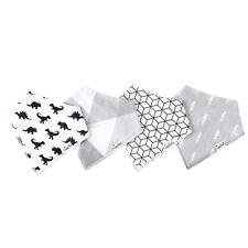 4pcs Infant Baby Kids Burp Feeding Bibs Saliva Towel Dribble Triangle Bandana Dinosaur 4pcs