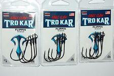 3 packs lazer tro kar trokar flippin hooks 5/0 tk130-5/0 bass flipping hook