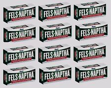 FELS NAPTHA Laundry Soap Detergent Stain Remover Pre Treating 12 - 5 oz Bars!!!