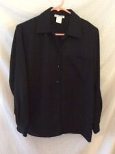 Courtenay Long Sleeve Black Blouse ~ Small ~ Polyester