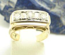Vintage Diamant Ring 585 Gold 6,9 Gramm 14 Karat Brillant 0,45ct Damenring 61