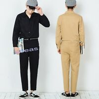 Casual Men's Cotton Slim Jumpsuits Overalls One Piece Pants Coveralls Trousers