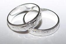 925 Silber - Ehering - Trauring - Partnerring - 4,55 mm - Rhodiniert - Größe 63