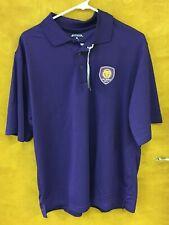 NWT Men's Antigua ORLANDO CITY SC Pique XTRA-LITE Purple Polo - Size XL