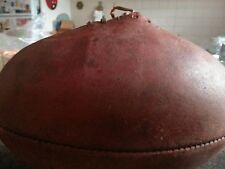 Vintage SHERRIN MATCH Genuine LEATHER FOOTBALL by T.W.Sherrin - needs bladder