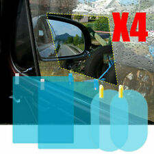 4 x Car Waterproof Rearview Mirror Glass Film Anti-Fog Window RainProof Membrane