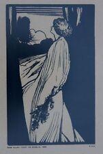 Antique Framed Woodblock Print Miss Ellen Terry as Ophelia 1898 Listed E G Craig