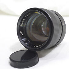 GE 36mm f/1.1 General Electric C-Mount Super Speed Camera Lens