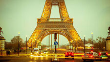 Eiffel Tower closeup Paris France cityscape image picture print art photo 269