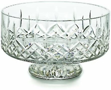 "Waterford Crystal LISMORE FOOTED SIMPLICITY BOWL 8"" NEW CENTERPIECE FRUIT BOWL"