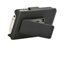 Qmadix Holster Snap-On Cover Case for Apple iPhone 4/4S - Black