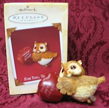 HALLMARK 2005 ORNAMENT~FOR YOU, TEACHER~OWL
