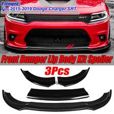 For 2015-2019 Dodge Charger SRT Front Bumper Lip Spoiler Splitter Body Kit