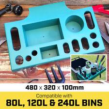 Vass Garden Wheelie Bin Caddy Tool Storage Trolley Rack Tray Organizer