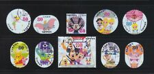 JAPAN 2013 DISNEY CHARACTERS GREETING 80 YEN COMP. SET OF 10 STAMPS IN FINE USED
