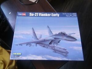"Hobby Boss #81712 1/48 Su-27 ""Flanker"" early model W/O Rocket Trees's W/Extra's"