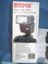 SUNPAK DigiFlash 2800 Electronic Flash Shoe Mount for Nikon DSLR Cameras - NEW
