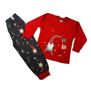 Baby Girls/Boys CHRISTMAS Pyjamas Pjs set 100% COTTON From 12 mths up to 7-8Y