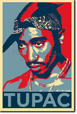 TUPAC SHAKUR PHOTO PRINT POSTER GIFT (OBAMA HOPE) 2PAC 2 PAC