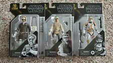 Lot of 3 Star Wars Black Series Archive Han Solo, Luke Skywalker, Commander Cody