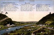 Porta Westfalica 1928 Kaiser Wilhelm Denkmal Fluß Weser Weserlied Lied Gedicht