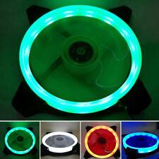 1 Pc RGB LED Colour Light CPU Computer Case PC Laptop Cooler Cooling Ring Fan