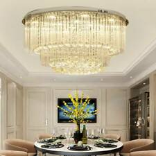 LED Crystal Ceiling Lights Round Luxurious Chandeliers Aisle Living Room Lamp