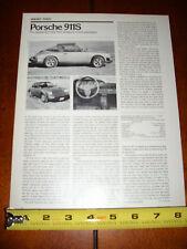 1977 Porsche 911S - Original Article