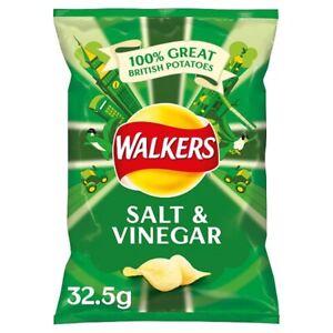 Walkers Salt and Vinegar Crisps Box, 32.5 g, Case of 32