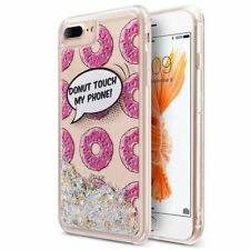 for iPhone 6 6s 7 Plus Glitter Bling Liquid Sparkling Quicksand Case Donuts