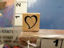 Heart love valentine outline Rubber Stamp 12G