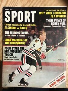 1968 Sport Magazine April Bobby Hull Cover