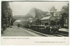 More details for highland express passing luncarty, railway station - perthshire postcard