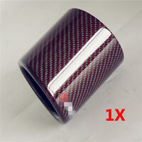 3.5in Car Red Carbon Fiber Exhaust Muffler Tip Stainless Steel Fit for Most Cars