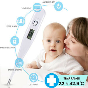 Digital Thermometer Medical Ear Body Arm LCD Audible Alarm Baby Adult Oral Fever