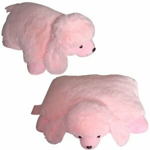 "PLUSH & PLUSH® BRAND LARGE PINK POODLE DOG PET PILLOW, 18"" inches my Friendly"