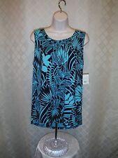 Sleeveless Soft Blouses Croft & Barrow XL,L,M,S, Multi Color 95% rayon 5% spande
