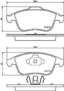 Hella Pagid Front Brake Pads T1851 fits Renault CLIO BH_ 1.6 RS Trophy