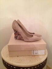 Burberry Hazel Wedge Pump Light Grey Melange Snake Size 9 5