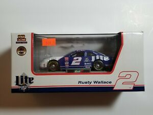 1997 Revell 1:43 Diecast NASCAR Rusty Wallace Miller Lite Ford Thunderbird NIB