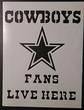 Dallas Cowboys Fans Live Here 8.5