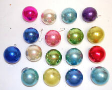 17 - Vintage Small Christmas Balls In Assorted Colors & Brands (#X1086)