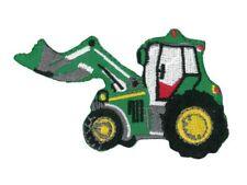 Patches Aufbügeln Aufnäher 6,5x5cm grün Bügelbild Traktor Kinder