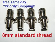 4 X Schrader Valve METRIC 8mm thread Shock Absorber Air Compressor Fork Cap