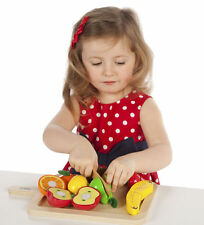 John Crane Toys Tidlo Wooden Cutting Fruits Play Set