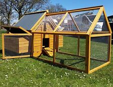 LARGE CHICKEN COOP HEN HOUSE POULTRY COOPS HUTCH PLASTIC WITH RUN