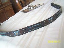 Harley Davidson Vintage Tooled Leather Belt Size 30-34 w/ Buckle