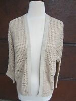 Lucky Brand W's Size Med Open Front Cardigan Sweater Tans 7WD5231 $69.50 NWT