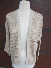 Lucky Brand W's Size Small Open Front Cardigan Sweater Tans 7WD5231 $69.50 NWT
